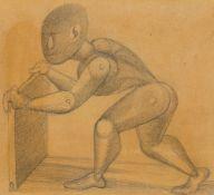 """Gottfried Brockmann. """"Bewegungsstudie zu dem Bild """"Kinderspiele"""""""". 1922"""