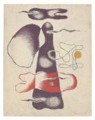 """Willi Baumeister. """"Mit zwei Lineamenten"""". 1938"""