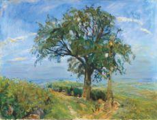 Max Slevogt. Obsternte in der Pfalz (Der Birnbaum). 1917