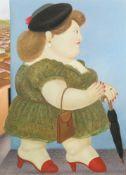 """Fernando Botero. """"Walking Woman in Profile"""". 1983"""