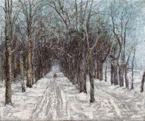 """Christian Rohlfs. """"Belvedere Allee in Weimar"""". 1889"""