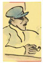 """Hermann Max Pechstein. """"Fischer mit blauer Mütze und Pfeife"""". 1912"""