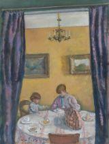 Eugen Spiro. Beim Frühstück (Die Familie des Künstlers). 1920
