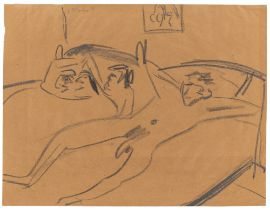 Ernst Ludwig Kirchner. Liegende Akte. 1908