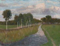 "Fritz Overbeck. ""Abend am Moorkanal II"". Vor 1905"