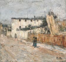 "Christian Rohlfs. ""Hausknechtstraße in Weimar"". Um 1889"