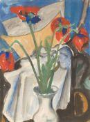 Max Kaus. Stillleben mit roten Tulpen. 1922