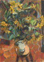Rolf Nesch. Stillleben mit Sonnenblumen. 1928