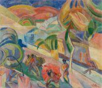 """Louis Seel. """"Strasse in Sevilla"""". 1924"""