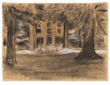 "Max Liebermann. ""Haus hinter Bäumen – Die Villa Oud-Bussem in Huizen"". 1901"