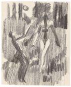 """Ernst Ludwig Kirchner. """"Ballspielende Akte"""". Um 1932"""
