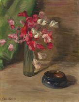 """Kurt Schwitters. """"Ohne Titel (Stilleben mit roten Blumen)"""". 1914"""