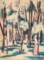 Hermann Max Pechstein. Waldstück (Nidden). 1919