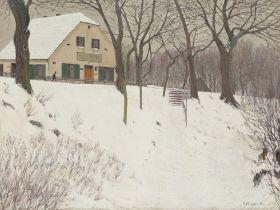 """Alfred Pfitzner. """"Wirtshaus in Ferch"""". 1910"""