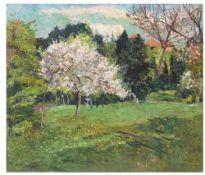"Philipp Franck. ""Blühender Obstbaum"". 1910"