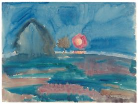 "Walter Gramatté. ""Mondaufgang auf Hiddensee"". 1921"