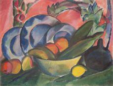 """Cesar Klein. """"Südliche Landschaft""""/Früchtestillleben. 1916/Um 1910/15"""