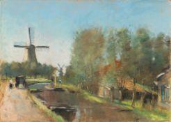 """Lesser Ury. """"Am Kanal, Holland"""". 1913"""