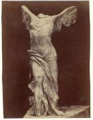 Unknown photographer. Winged Victory of Samothrake, Louvre, Paris. Circa 1883