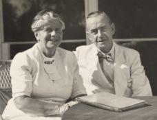 Florence Homolka. Thomas and Katja Mann in Pacific Palisades, California. 1946