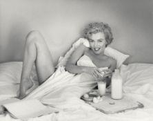 André de Dienes. Breakfast in Bed, Marilyn Monroe at the Bel Air Hotel in Beverly Hills. 1953