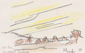 """Lyonel Feininger. """"Connecticut Landscape"""". 1939"""