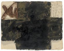 """Antoni Tàpies. """"Gran Creu i xifres"""" (""""Large Cross and Figures""""). 1977"""