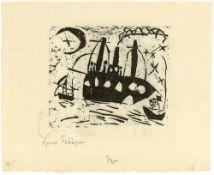 """Lyonel Feininger. """"Fröhliche Schiffsreise"""". 1919"""