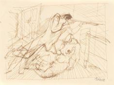 """George Grosz. """"Die Affäre Mielzynsky / Familientragödie"""". 1912/13"""