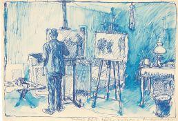 """George Grosz. """"Atelier Fiedler / Grosz, Berlin-Südende"""". 1912"""