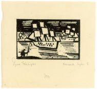 "Lyonel Feininger. ""Kreuzende Segelschiffe 1"". 1919"