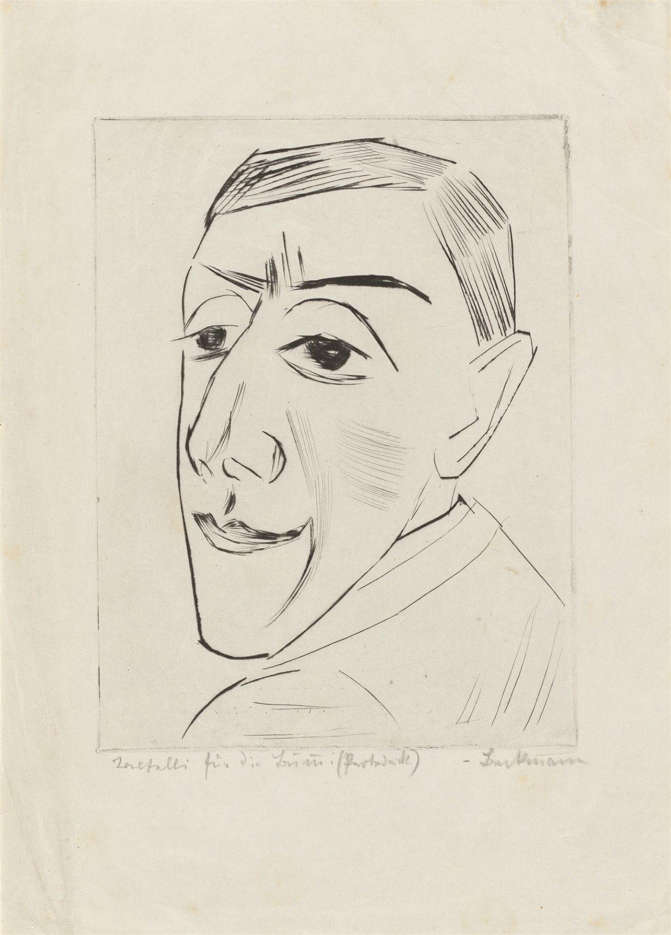 """Max Beckmann. """"Bildnis des Schauspielers N.M. Zeretelli"""". 1924"""