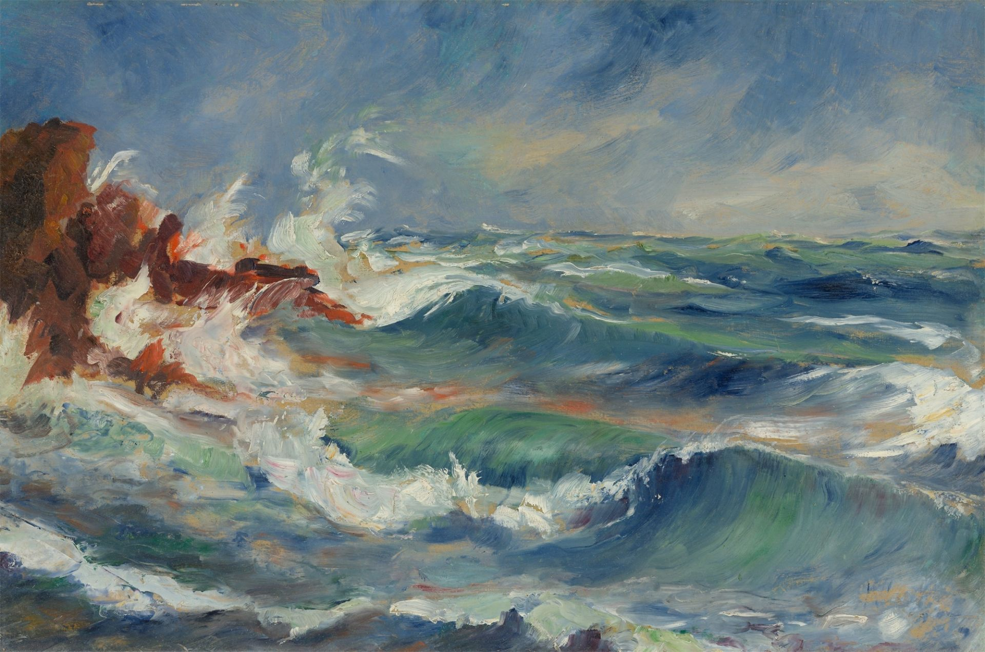 Lucien Adrion. Coast area / Brakers.
