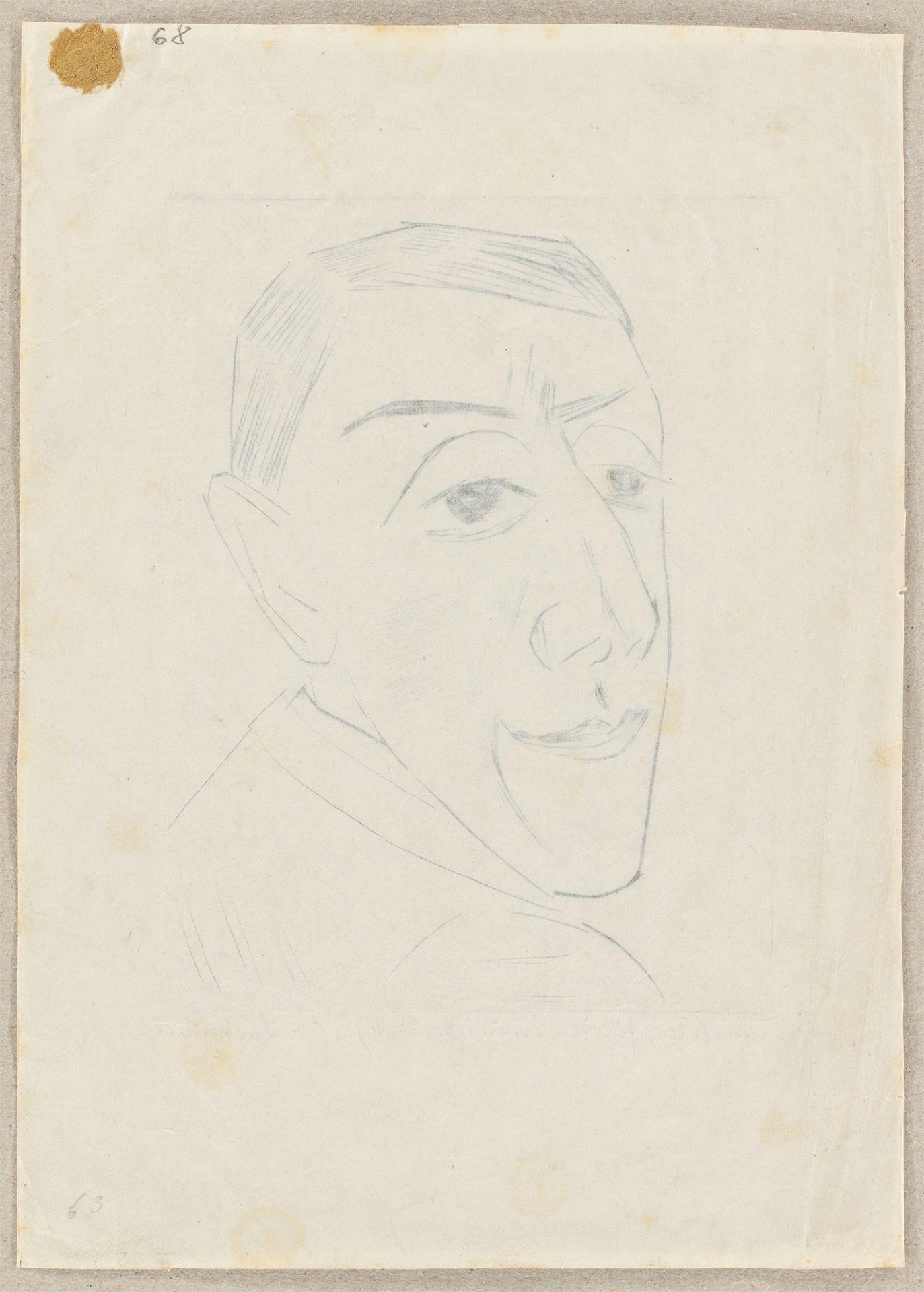 """Max Beckmann. """"Bildnis des Schauspielers N.M. Zeretelli"""". 1924 - Image 3 of 4"""
