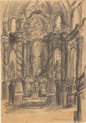 Franz Heckendorf. Monastery church Fürstenfeldbruck near Munich / Crucifixion. 1949
