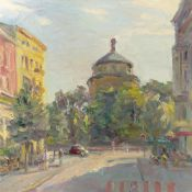 André Krigar. Berlin view: View from Ryckestraße towards the water tower. After 2000