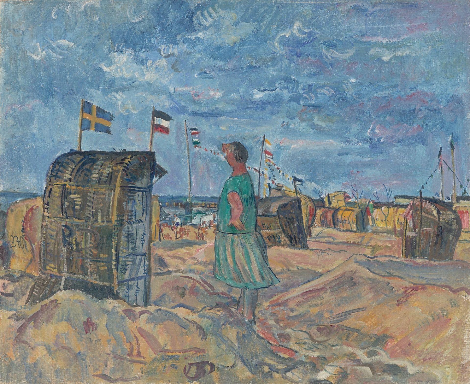 "Erich Büttner. ""Strand in Graal"". 1928"
