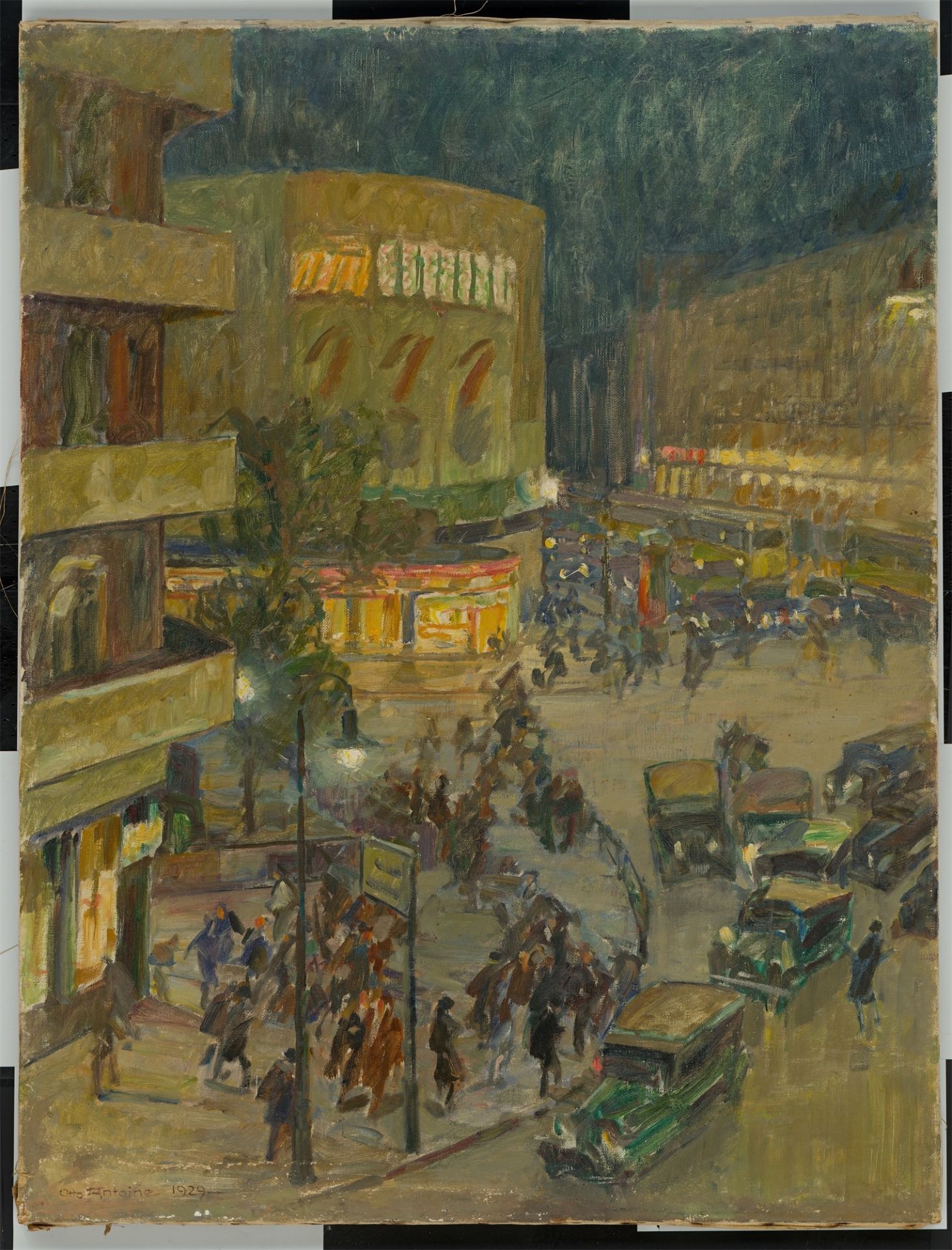 Otto Antoine. Potsdamer Platz at night. 1929 - Image 2 of 4