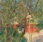 Mathilde Kliefert-Gießen. Red farmhouse. Circa 1910
