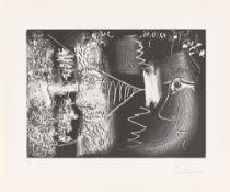 """Pablo Picasso. """"La Vieillesse: Femme regardant trois profils de vieillards"""". 1966/68"""