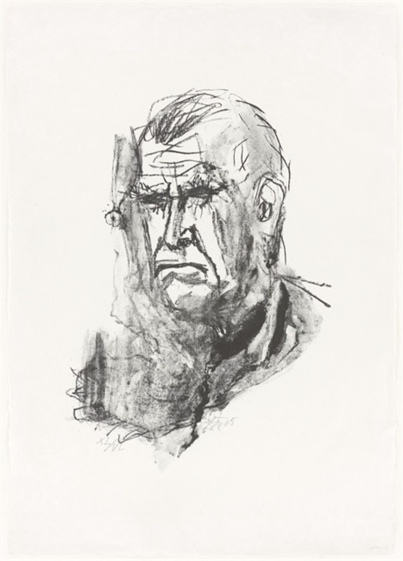 """Otto Dix. """"Großes Selbstbildnis"""". 1965 - Image 2 of 3"""