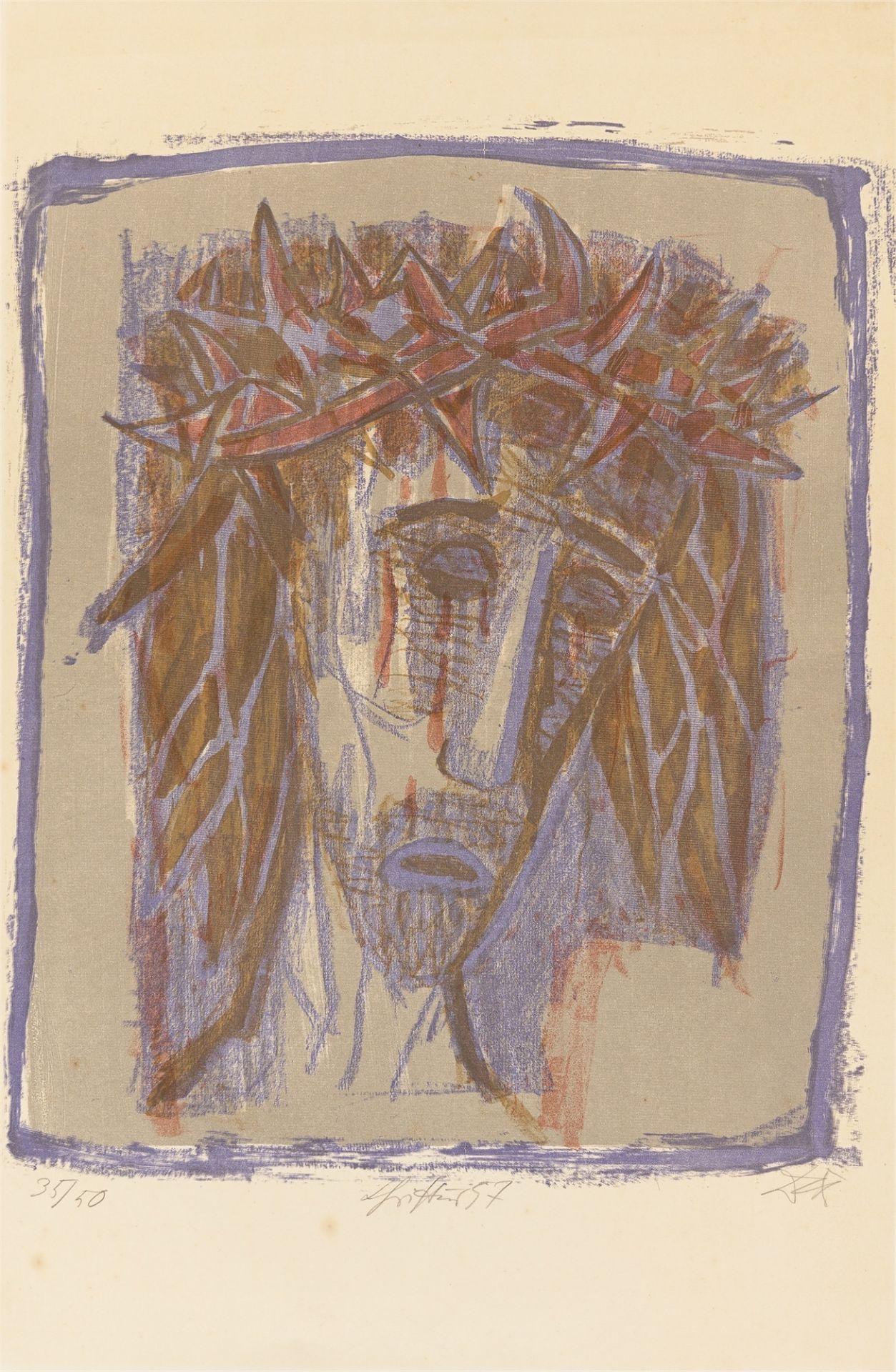 "Otto Dix. ""Christus"". 1957"