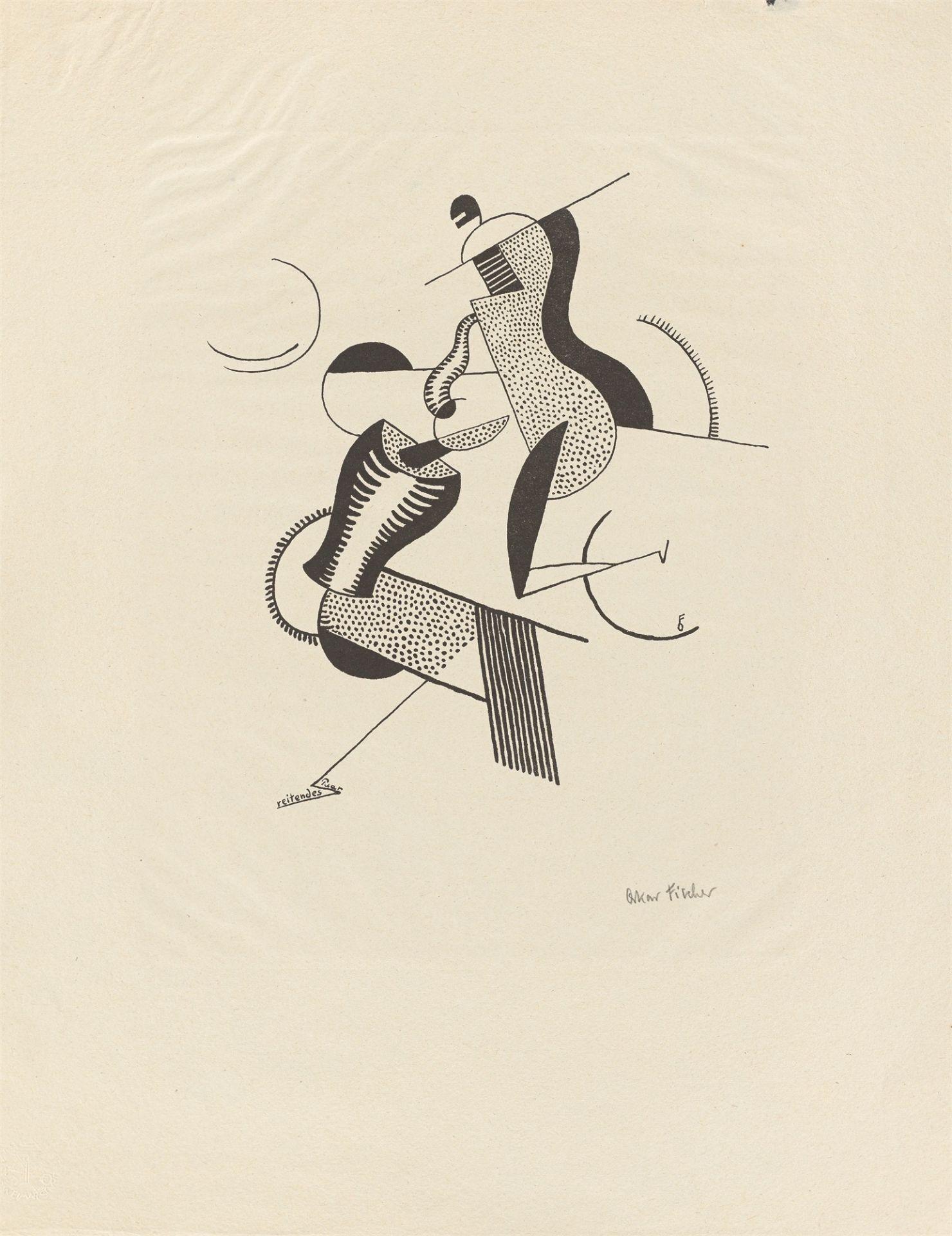 """Oskar Fischer. """"reitendes Paar"""". 1920/21"""