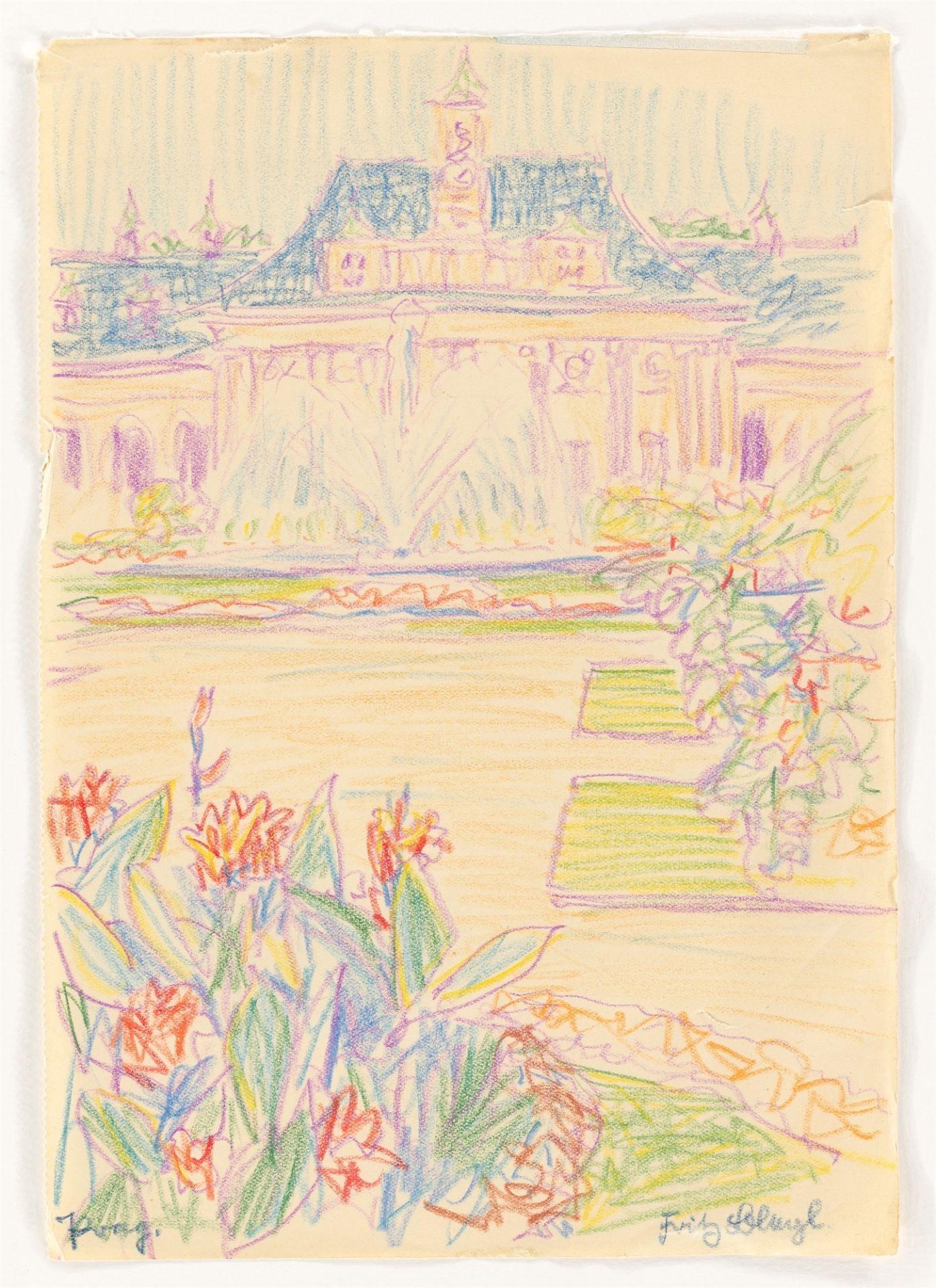 "Fritz Bleyl. ""Prag."" (View of the Hradčany Castle) / ""Prag."" (Palace and park) / ""Prag."" (Wal…. 1930 - Image 2 of 10"
