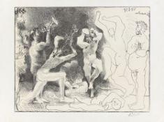 """Pablo Picasso. """"La danse des faunes"""". 1957"""