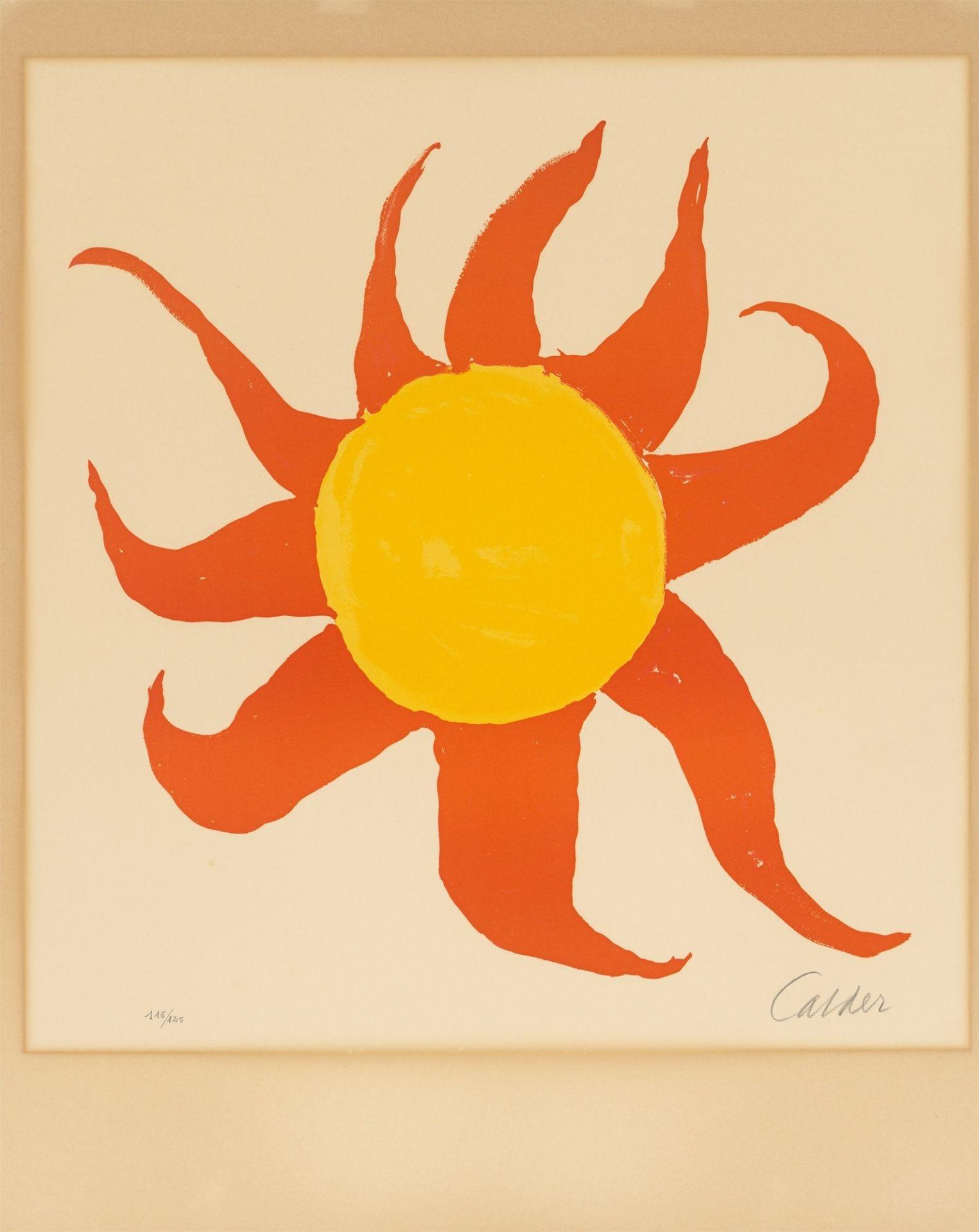 Alexander Calder. Red Sun. 1970 - Image 2 of 4