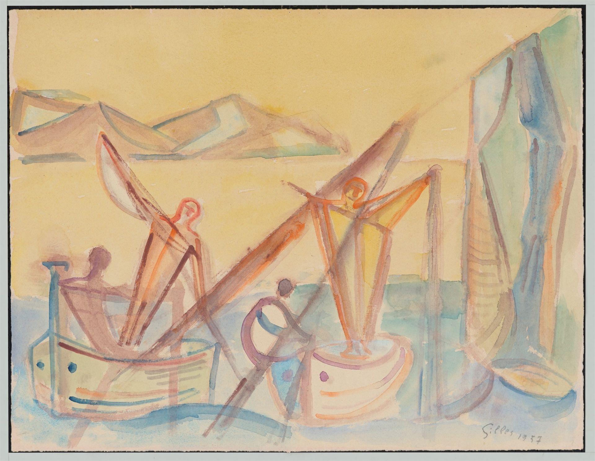 Werner Gilles. In the boat. 1957 - Image 2 of 4