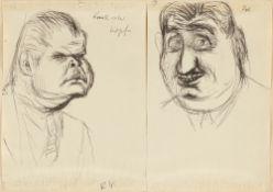 "Karl Hubbuch. ""Knallroter Kopf"" / Head. Circa 1930"