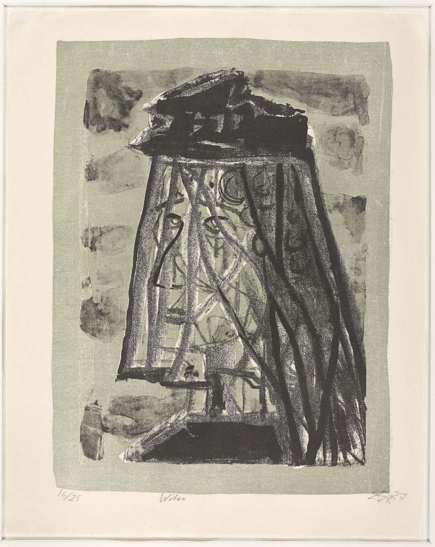 "Otto Dix. ""Witwe"". 1957 - Image 2 of 3"
