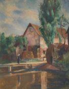 Friedrich Ahlers-Hestermann. Wesselhöft pond in Nienstedten. 1923